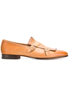 Santoni classic buckled loafers - Brown