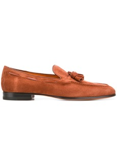 Santoni classic slip-on loafers - Brown
