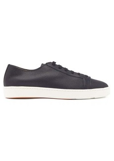Santoni Cleanic grained-leather trainers