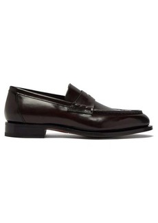 Santoni Colin leather penny loafers