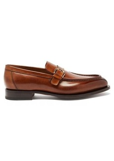 Santoni Colin monkstrap leather loafers