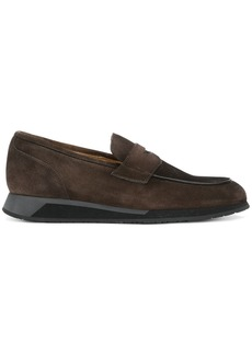Santoni comfort sole penny loafers - Brown