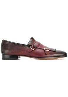 Santoni double-buckle loafers - Brown
