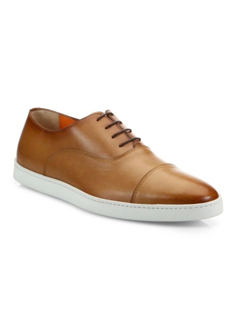 Santoni Durbin Leather Sneakers