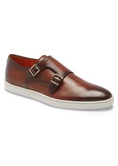 Santoni Freemont Leather Slip-On Monk Shoe (Men)