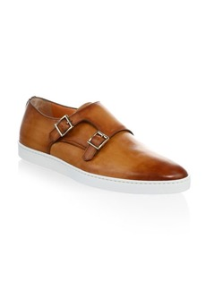 Santoni FREEMONT Double Monk Strap Leather Sneakers