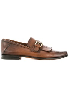 Santoni fringed loafers - Brown