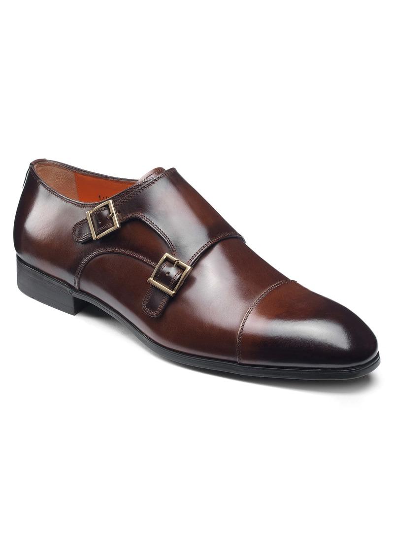 Santoni Inca Double Monk Strap Shoe (Men)