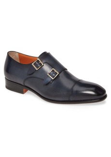 Santoni Innocent Double Monk Strap Shoe (Men)