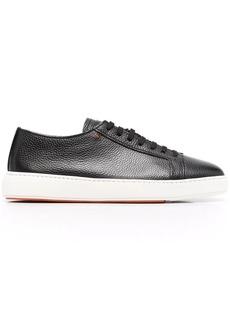 Santoni pebbled low-top sneakers