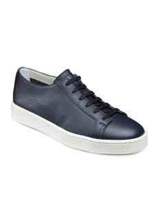 Santoni Men's Clean Iconic Leather Low-Top Sneakers  Navy
