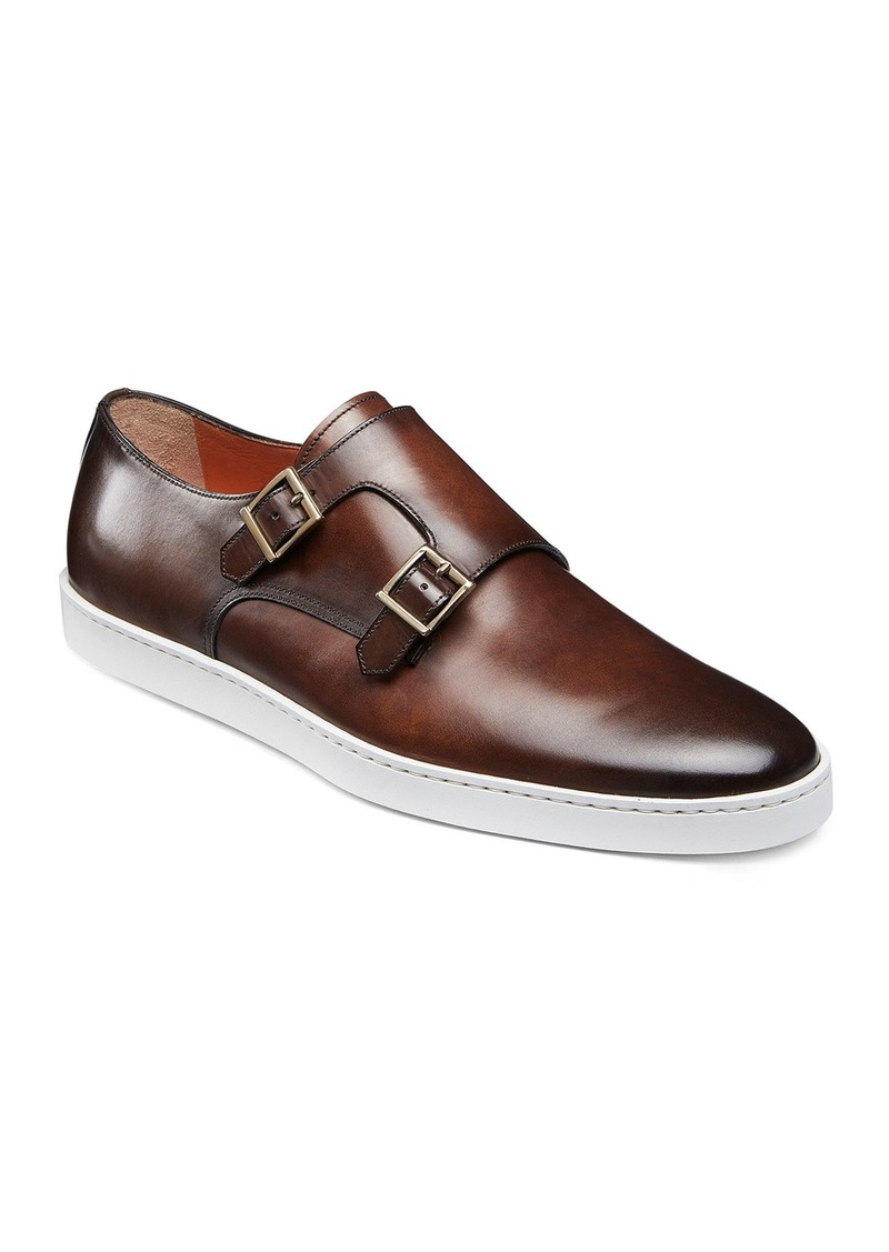 Santoni Men's Freemont Double-Monk Leather Sneakers