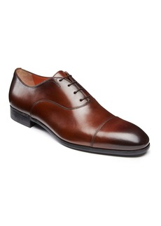 Santoni Men's Salem Leather Lace-Up Loafers  Brown