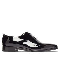 Santoni Moore patent-leather oxford shoes
