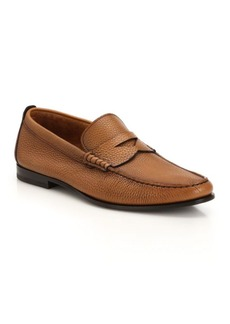 Santoni Penny Leather Loafers