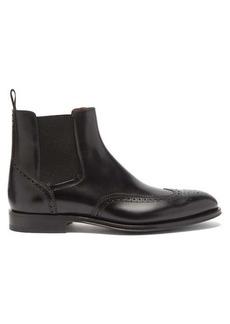 Santoni Phoenix leather brogue Chelsea boots