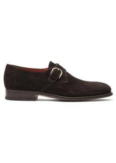 Santoni Phoenix suede monk shoes