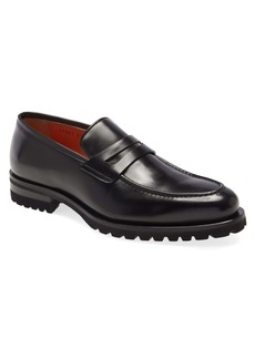 Santoni Ravi Lug Sole Penny Loafer (Men)