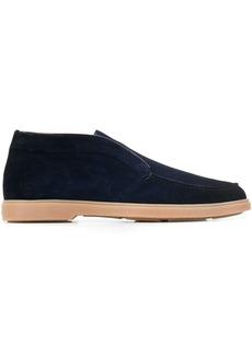 Santoni slip-on suede shoes