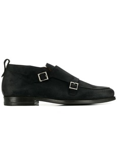 Santoni Smoints textured monk shoes