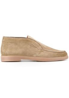 Santoni stitch-detail loafers