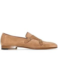 Santoni suede monk shoes