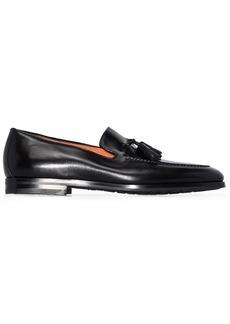 Santoni tassel-detail leather loafers