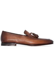 Santoni tassel-trimmed leather loafers