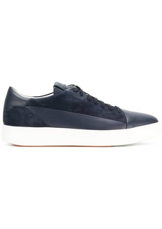 Santoni toe capped lace-up sneakers