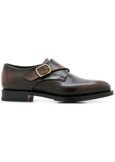 Santoni varnished monk shoes