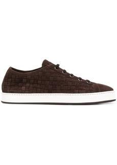 Santoni woven low top sneakers