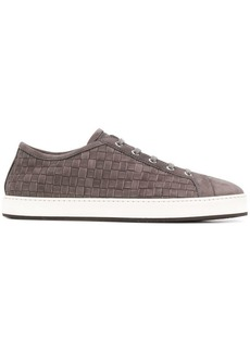 Santoni woven low top sneakers