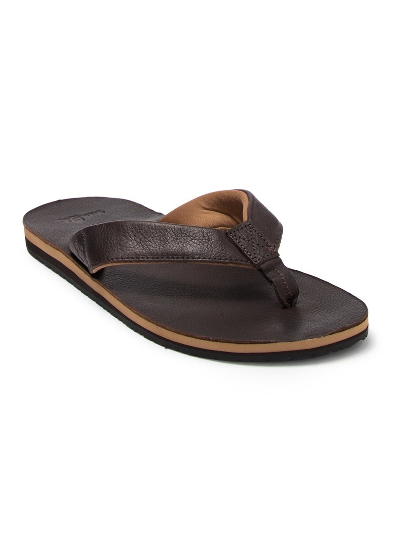Sanuk John Doe 2 Leather Flip Flop