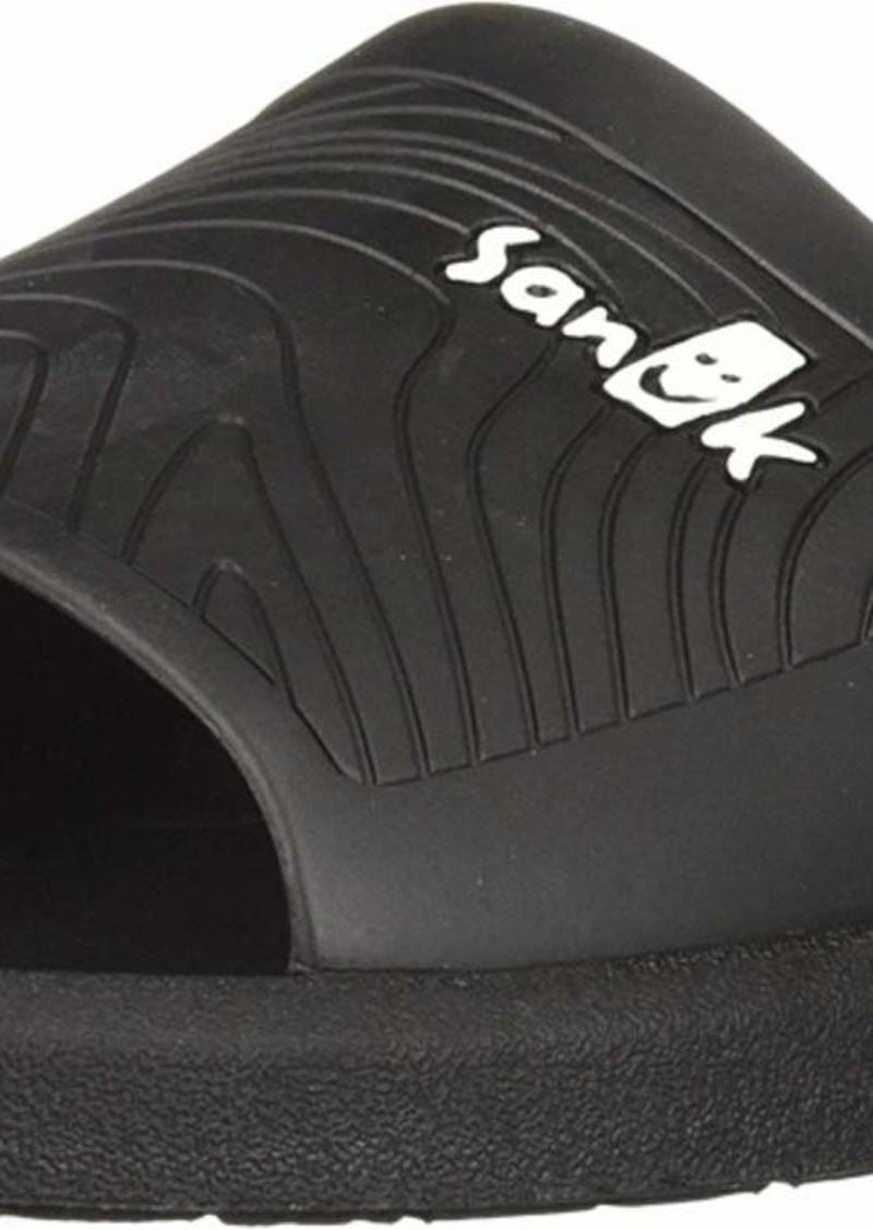 Sanuk Men's Beachwalker Slide Sandal black  M US