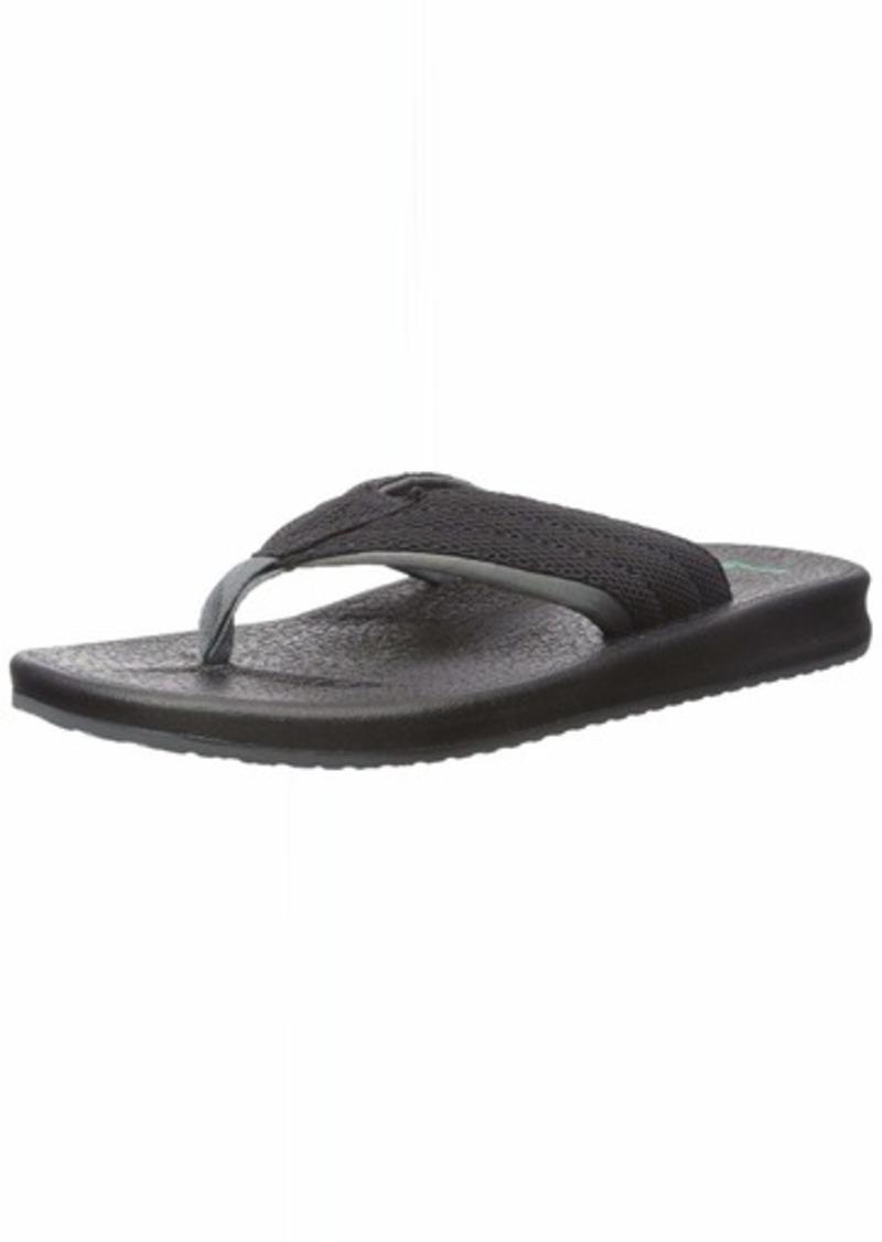 Sanuk Men's BRUMEISTER MESH Flip-Flop black/charcoal 0 M US