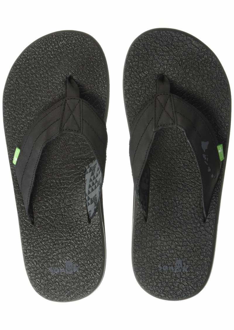 Sanuk Men's Lei'd Back Hawaii Flip-Flop black tribal  M US
