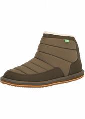 Sanuk Men's Puff N Chill Ankle Boot dark olive  M US