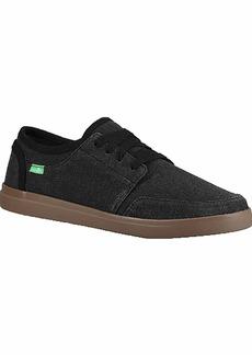 Sanuk Men's Vagabond Lace Sneaker Black/Gum  M US