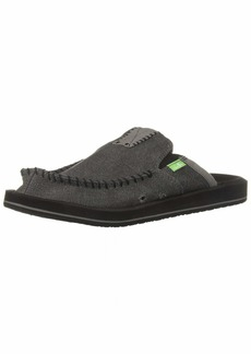 Sanuk Men's You Got My Back II Slip On CHARCOAL  M US