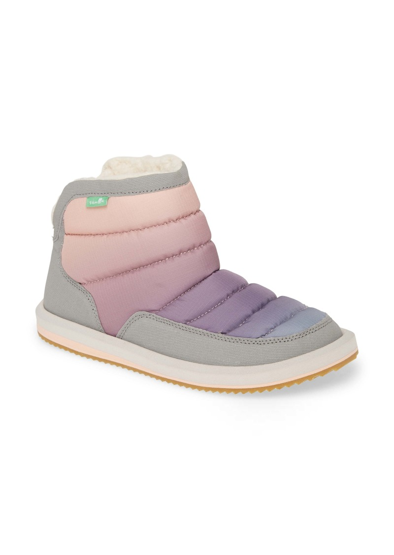 Sanuk Puff N' Chill Ombré Quilted Faux Fur Bootie (Women)