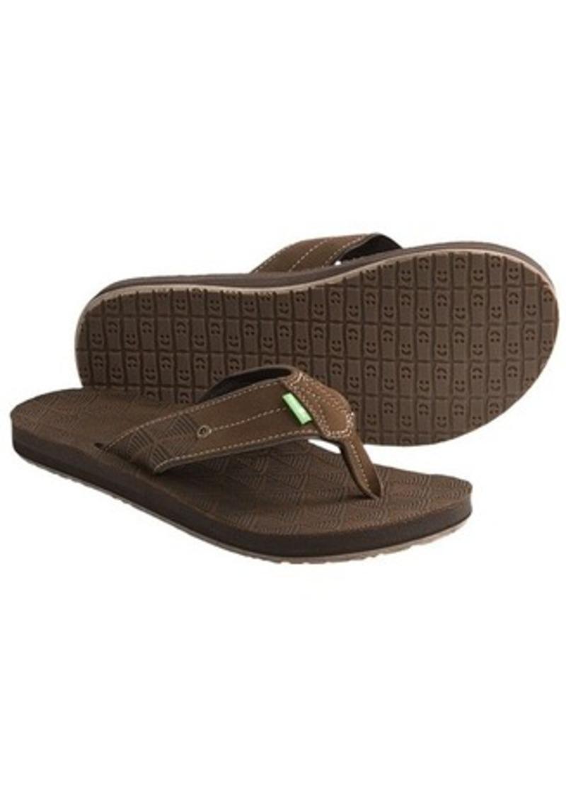 Sanuk Sanuk Tonga Sandals Leather Flip Flops For Men