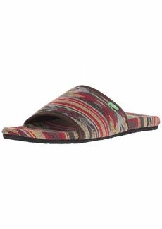 Sanuk Women's Furreal Slide Sandal Brown/red Navajo