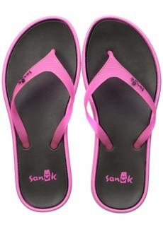 Sanuk Women's Sidewalker Neon Flip-Flop Pink  M US