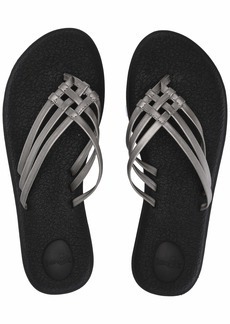 Sanuk Women's Yoga Salty Metallic Flip-Flop   M US