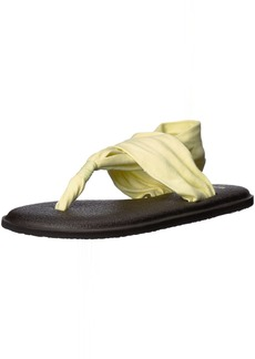 Sanuk Women's Yoga Sling 2 Solid Vintage Flip-Flop Yellow pear