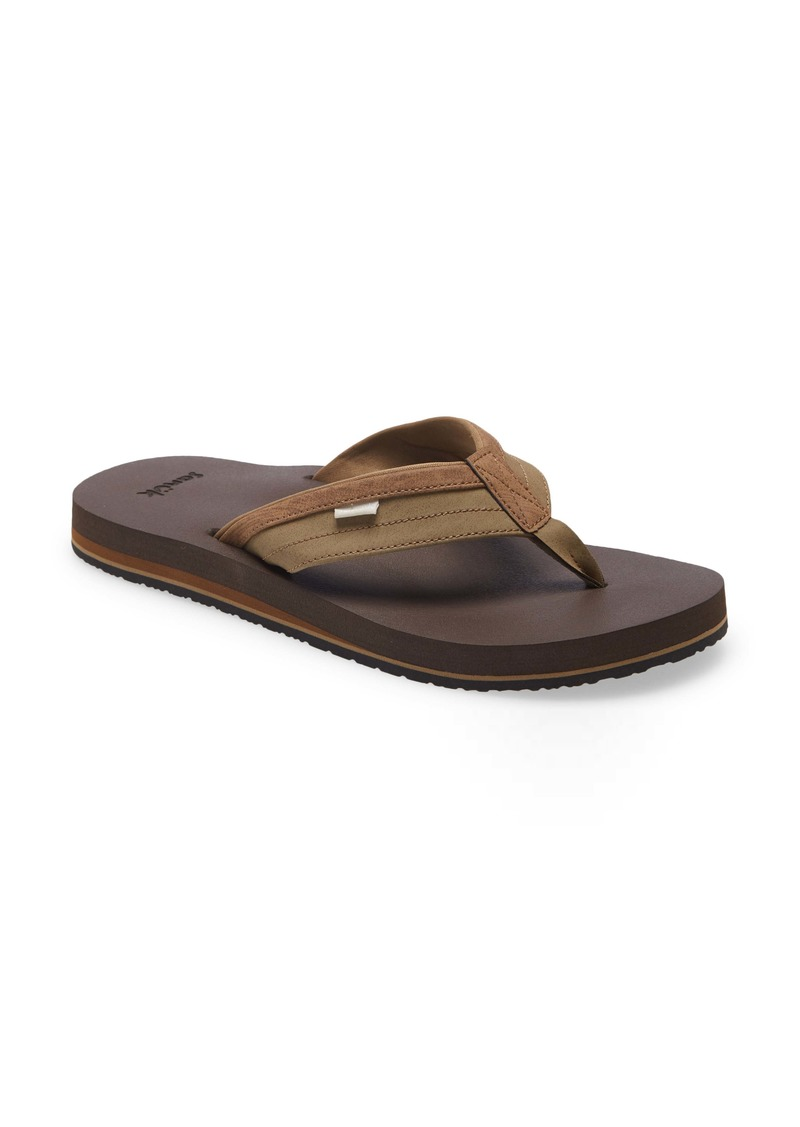 Sanuk Ziggy Water Friendly Flip Flop (Men)
