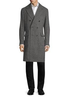 Sanyo Gautier Wool Tweed Overcoat