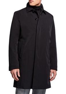 Sanyo Men's Ducasse Water-Repellant Balmacaan Coat