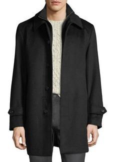 Sanyo Men's Merled Wool Getaway LayeredTopcoat