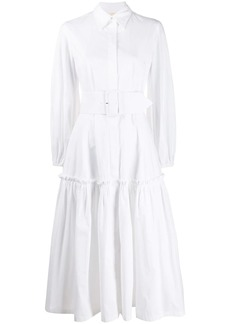 Sara Battaglia belted prairie dress